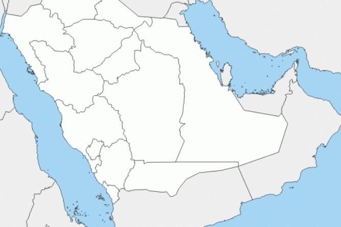 خريطة المملكة العربية السعودية صماء وحدودها المختصر كوم